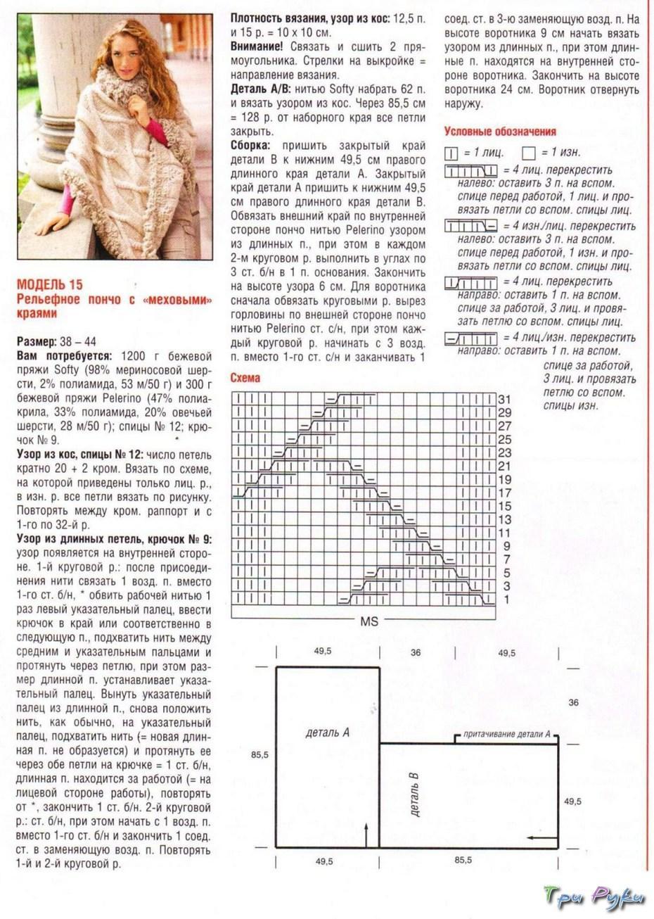Вязание для детей пончо модели и схемы