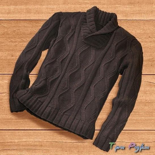 черный мужской пуловер