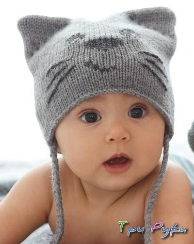 Детская шапка-кошка