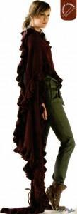 Красно- коричневая шаль