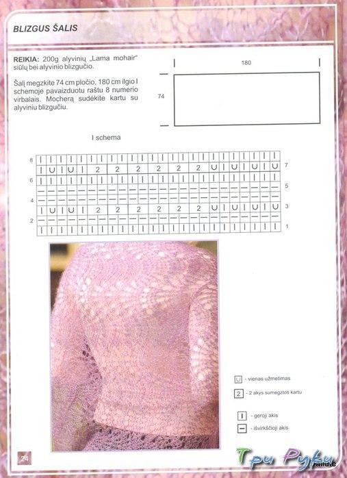 Розовый палантин