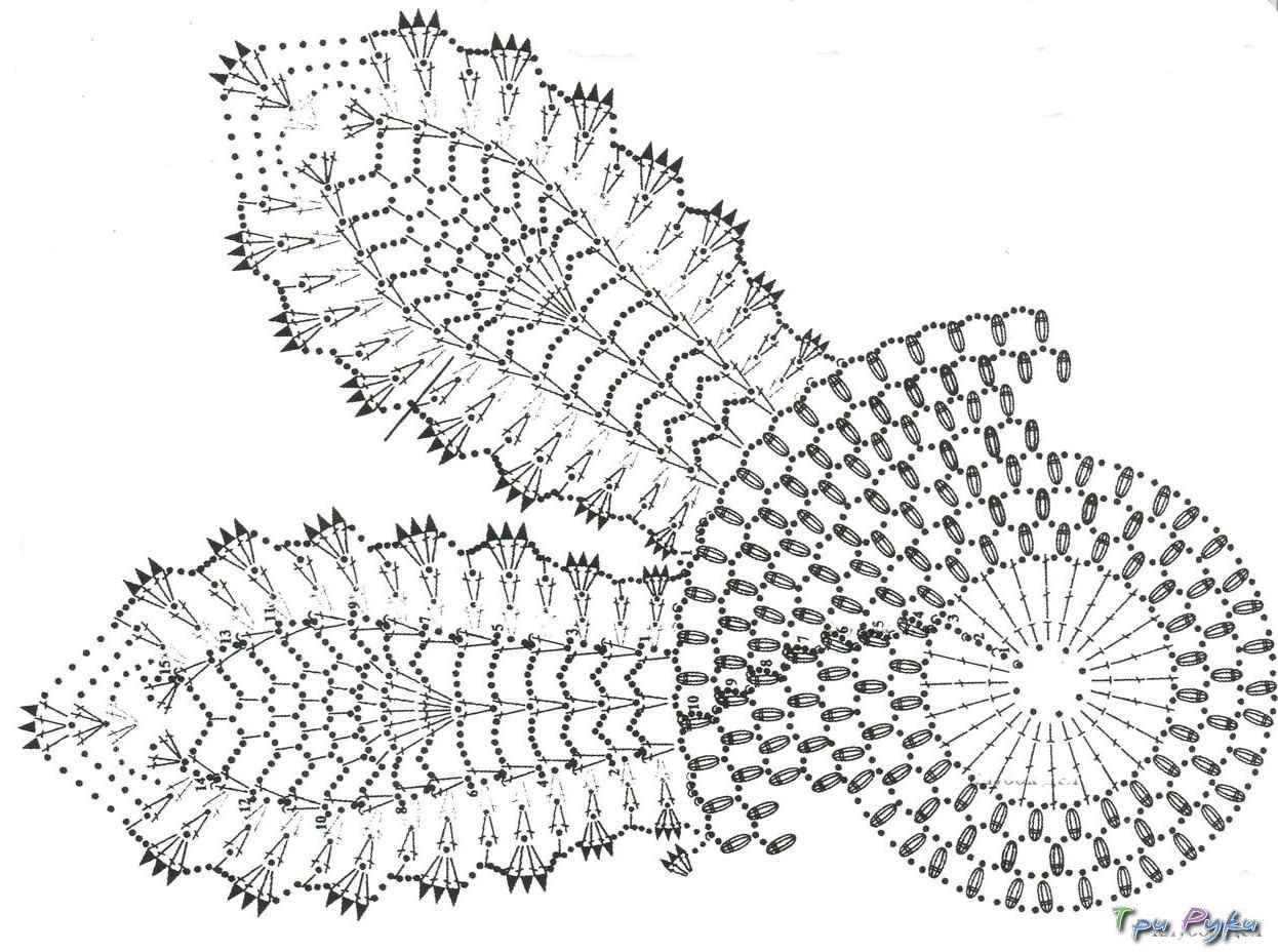 Мир вязания салфетки крючок схемы