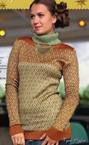 Вязаный пуловер с люрексом