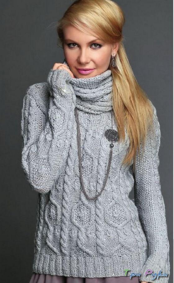 Пуловер схема вязания