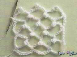 Ирландское кружево сетка с узелками.