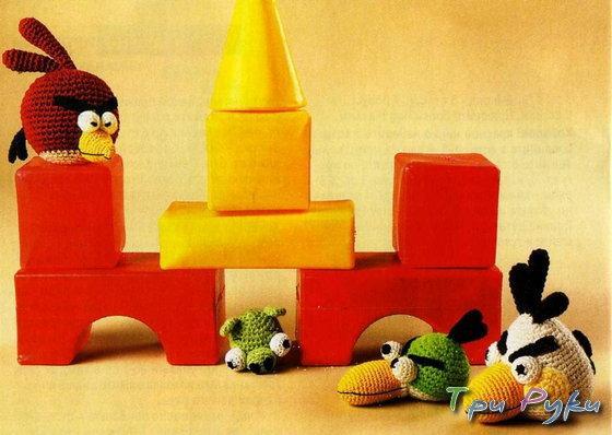 Бордовая, Зеленая и Белая птички Angry Birds