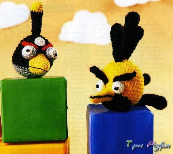 Черная и Желтая птичка