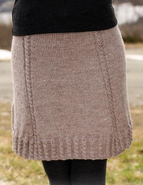 Схема вязания юбки в складку