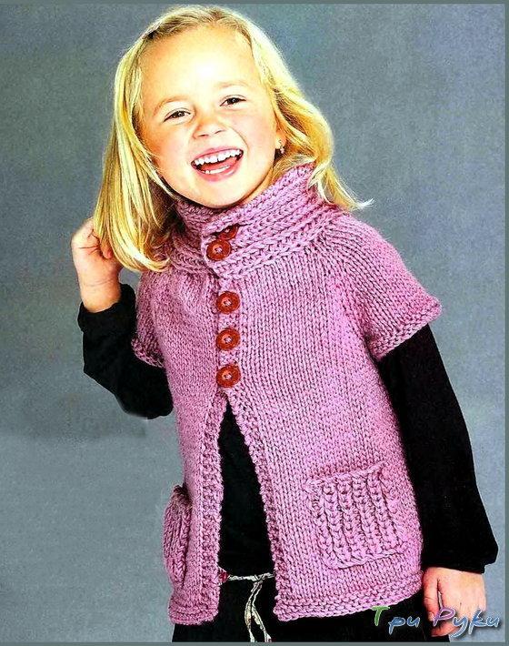 Вязание красивой кофточки на девочку 3 лет