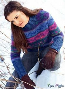 Жаккардовый свитер
