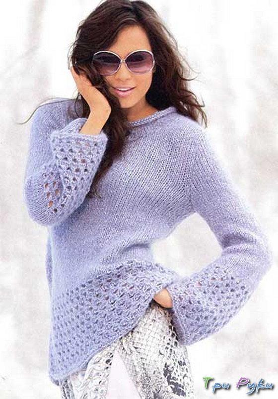 Пуловер из махера