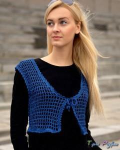 Синий жилет