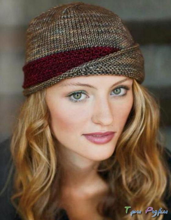 Для вязания этой женской шапки
