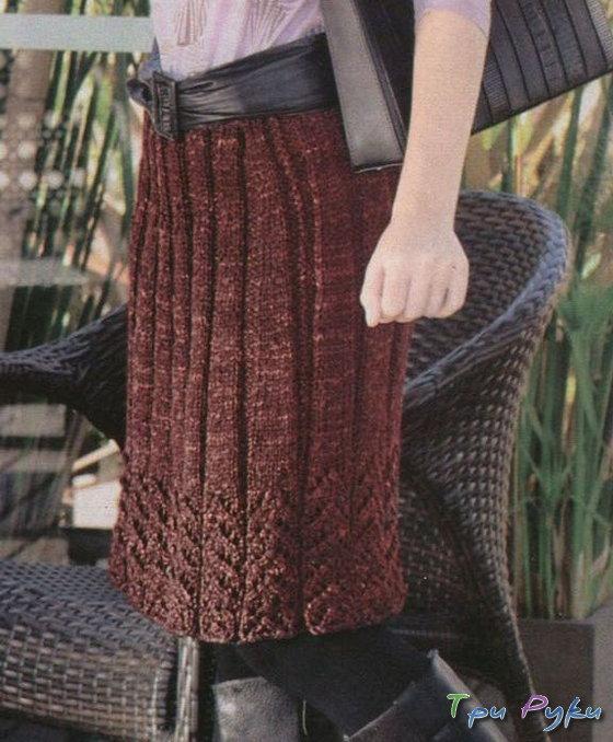 Вязание юбок спицами для полных