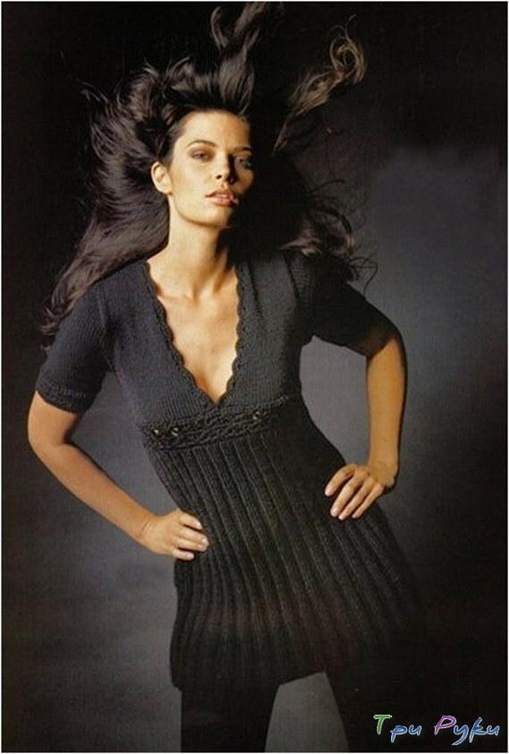 Черное сексуальное платье