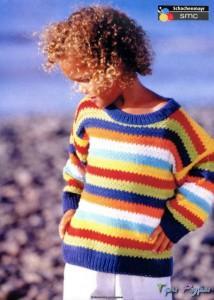 Вязаная кофта для девочки 6 лет