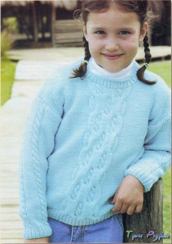 Пуловер для девочки 5 лет