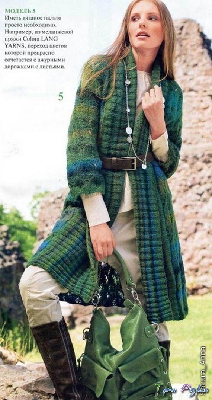 Пальто с ажурным узором