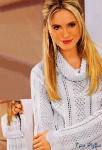 Простой белый свитер