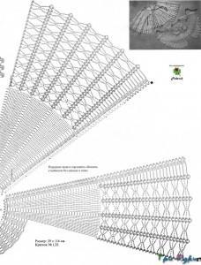вязаные воротники крючком схемы фото (4)