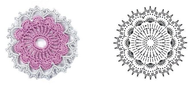 цветочки крючком мк (13)
