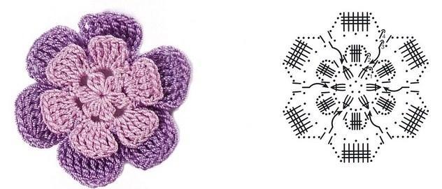 цветочки крючком мк (11)