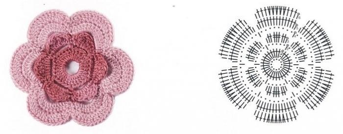 цветочки крючком мк (10)