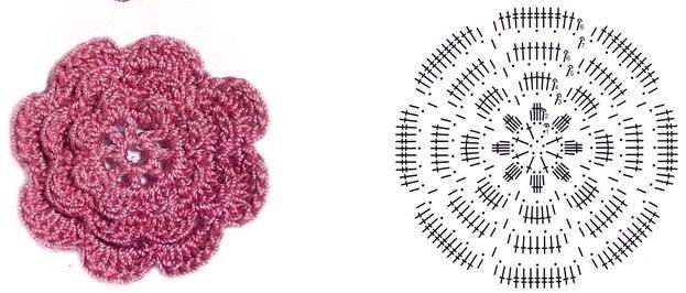 цветочки крючком мк (4)