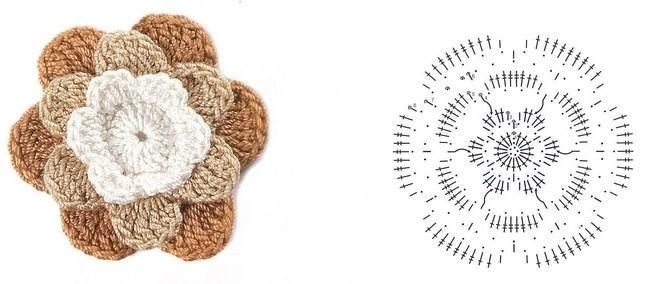 цветочки крючком мк (3)