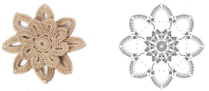 цветочки крючком мк (2)