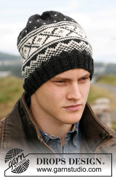 Мужская шапка с норвежским узором