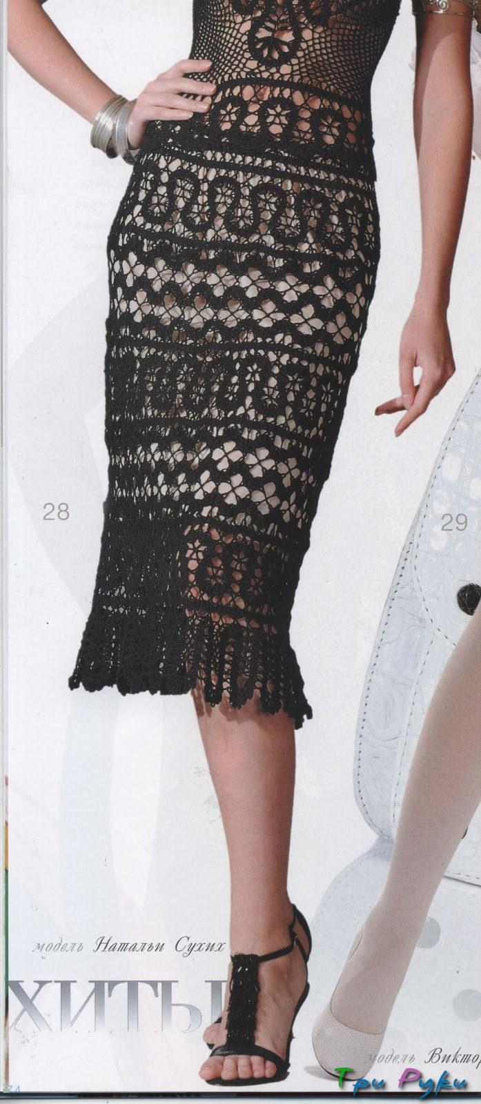 юбка крючком фото (2)