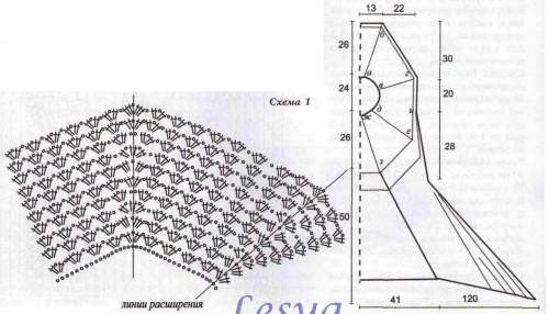 платье крючком схема фото (2)