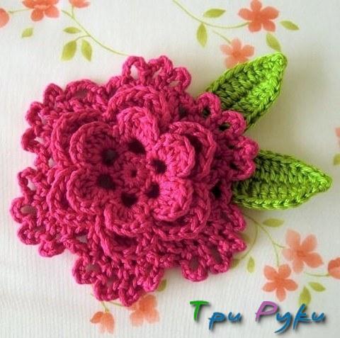 вязание крючком цветы для