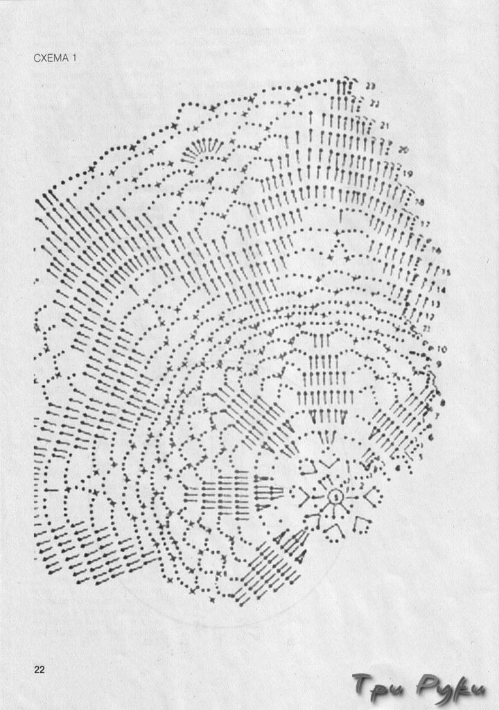 Вязание крючком накидка для табурета схема 671
