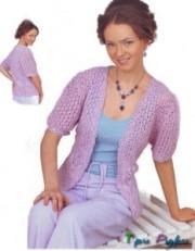 """Прокомментировать запись  """"Пальто вязание спицами """".  Permanent Link to Женская кофточка вязаная спицами."""