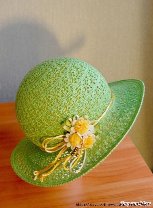 Шляпа крючком схема фото (3)