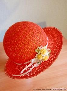 Шляпа крючком схема фото (1)