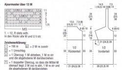Схема вязаного топа крючком