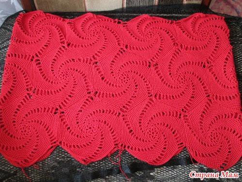 Красное платье крючком узор вязаный
