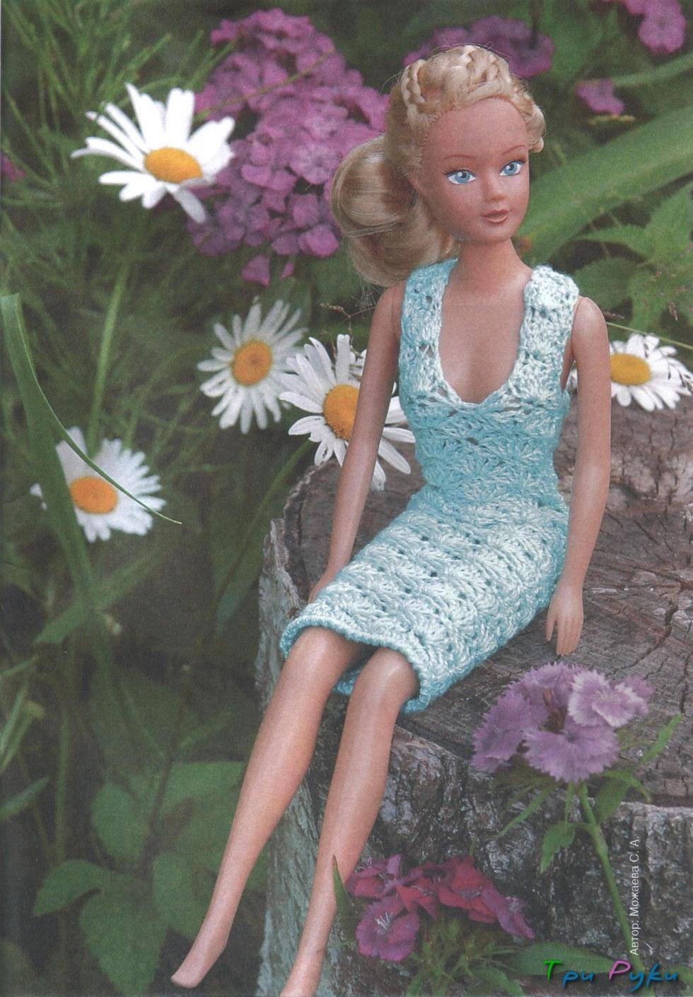 Вяжем кукле барби (2)