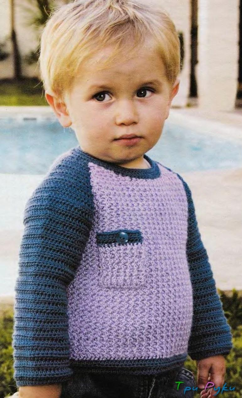 Вязание кофточки на мальчика крючок 637