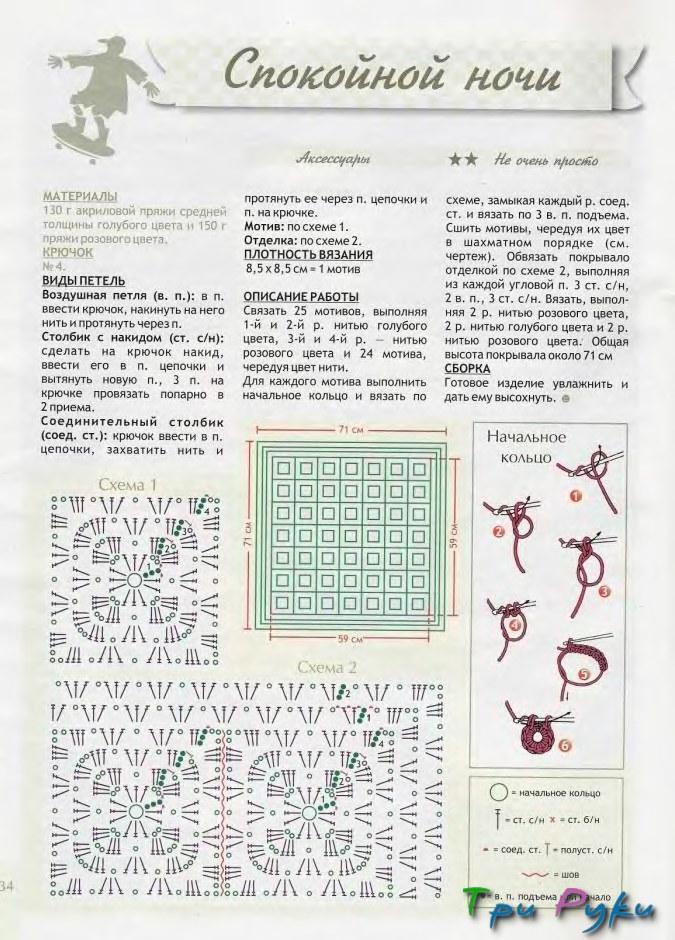 Пледы для малышей схемы вязания