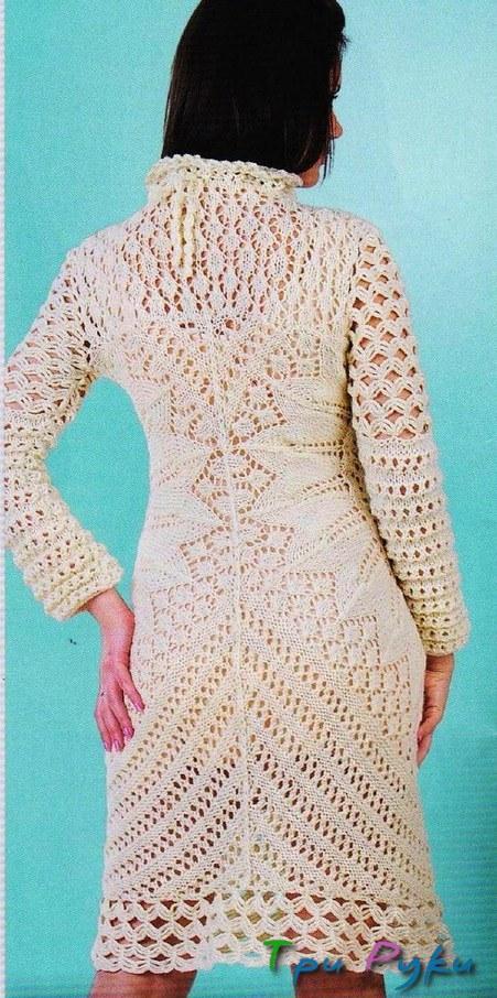 теплое платье спицами фото (4)
