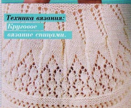 Ажурное вязание для круговых спиц
