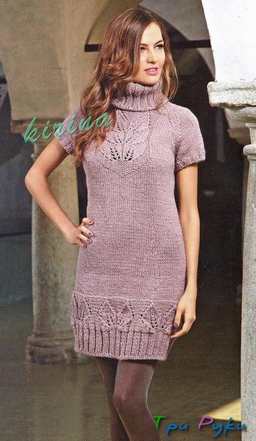 Вязание спицами платья (1)