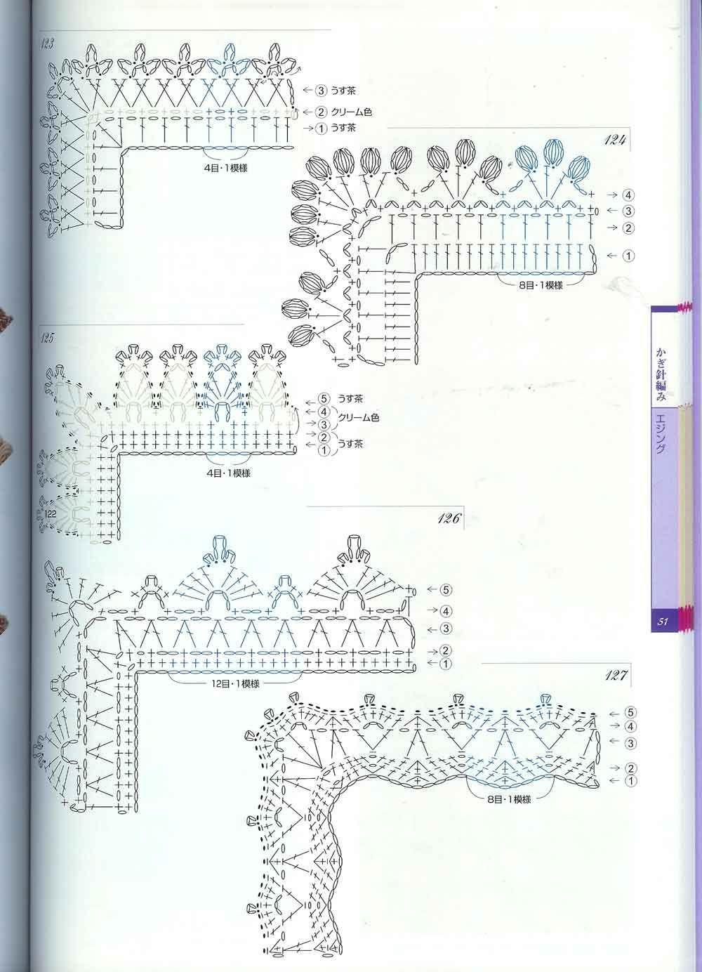 Схемы для вязания крючком уголков