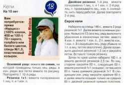 вязаные кепки схемы (2)