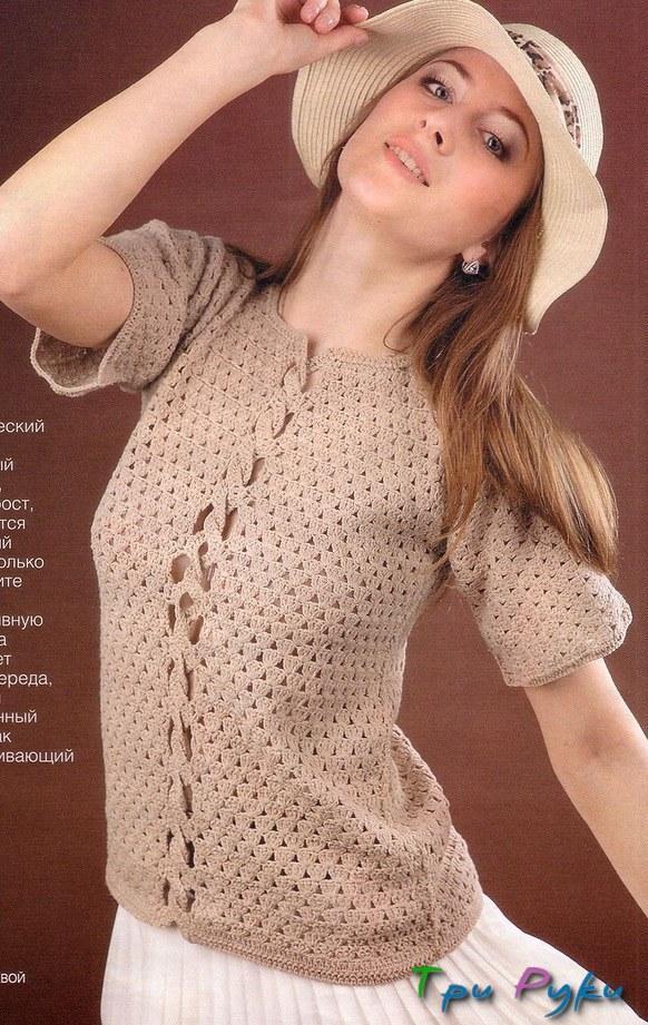 вязание крючком пуловера (3)