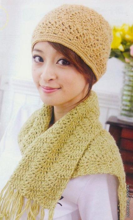 Шапка и шарф из шерсти фото (1)